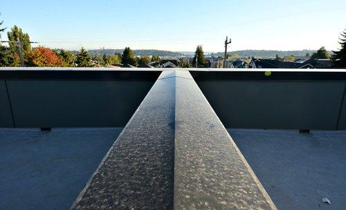 parapet cap with double slope